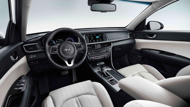 KIA Optima Sportswagon Plug-in Hybrid 2017 interior