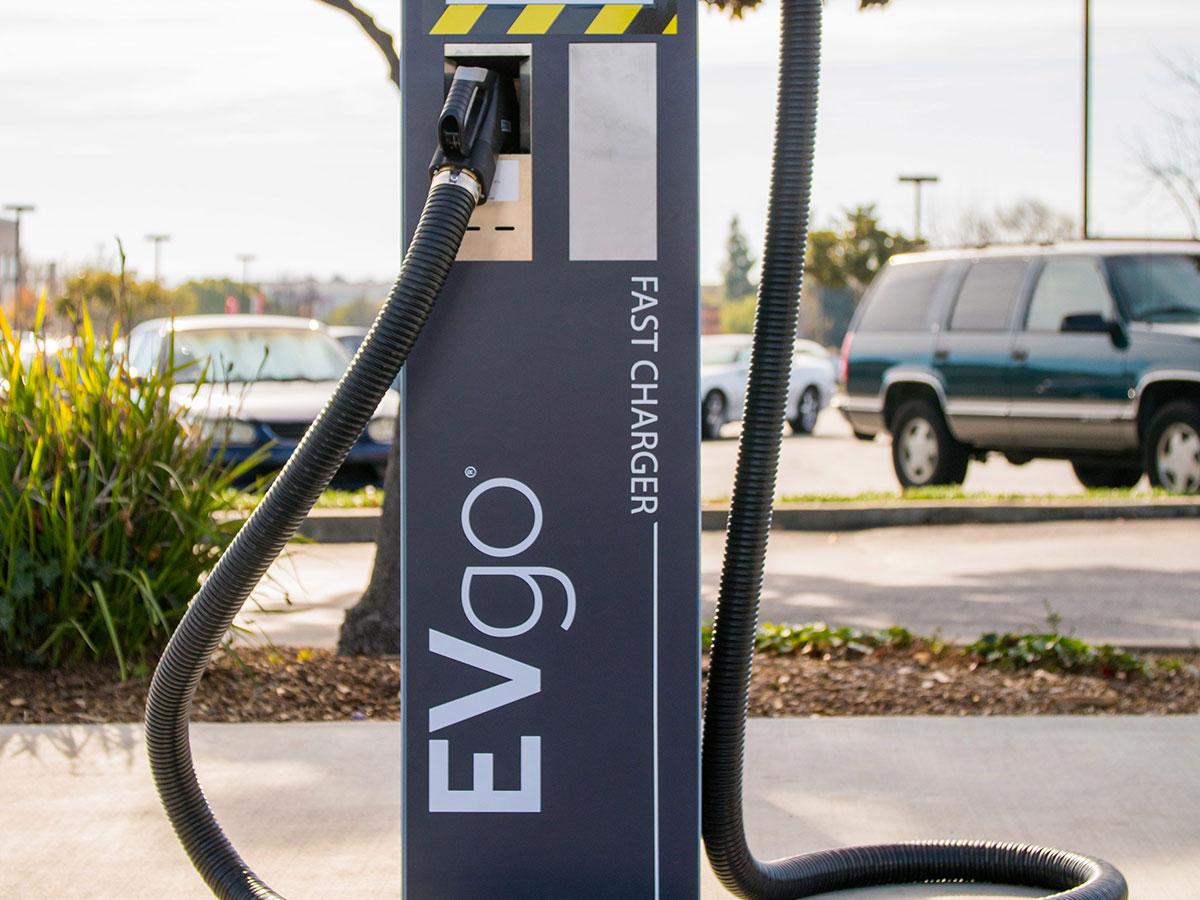 EVgo high-power fast charging station
