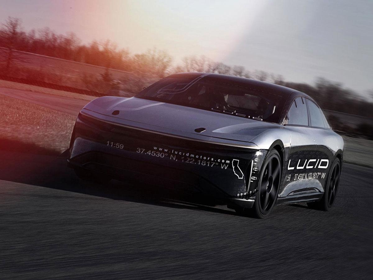 Lucid Alpha Speed Car