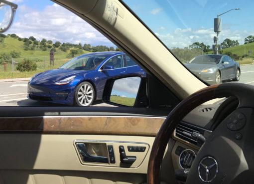 Tesla Model 3 spy shot