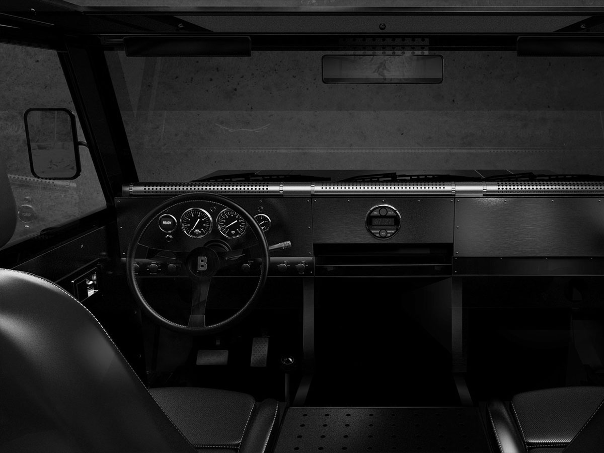 Bollinger B1 all-electric sport utility truck interior