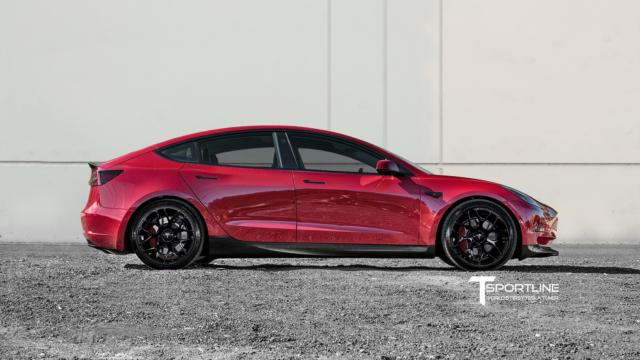 Tesla Model 3 Carbon Fiber Sport Kit by T Sportline