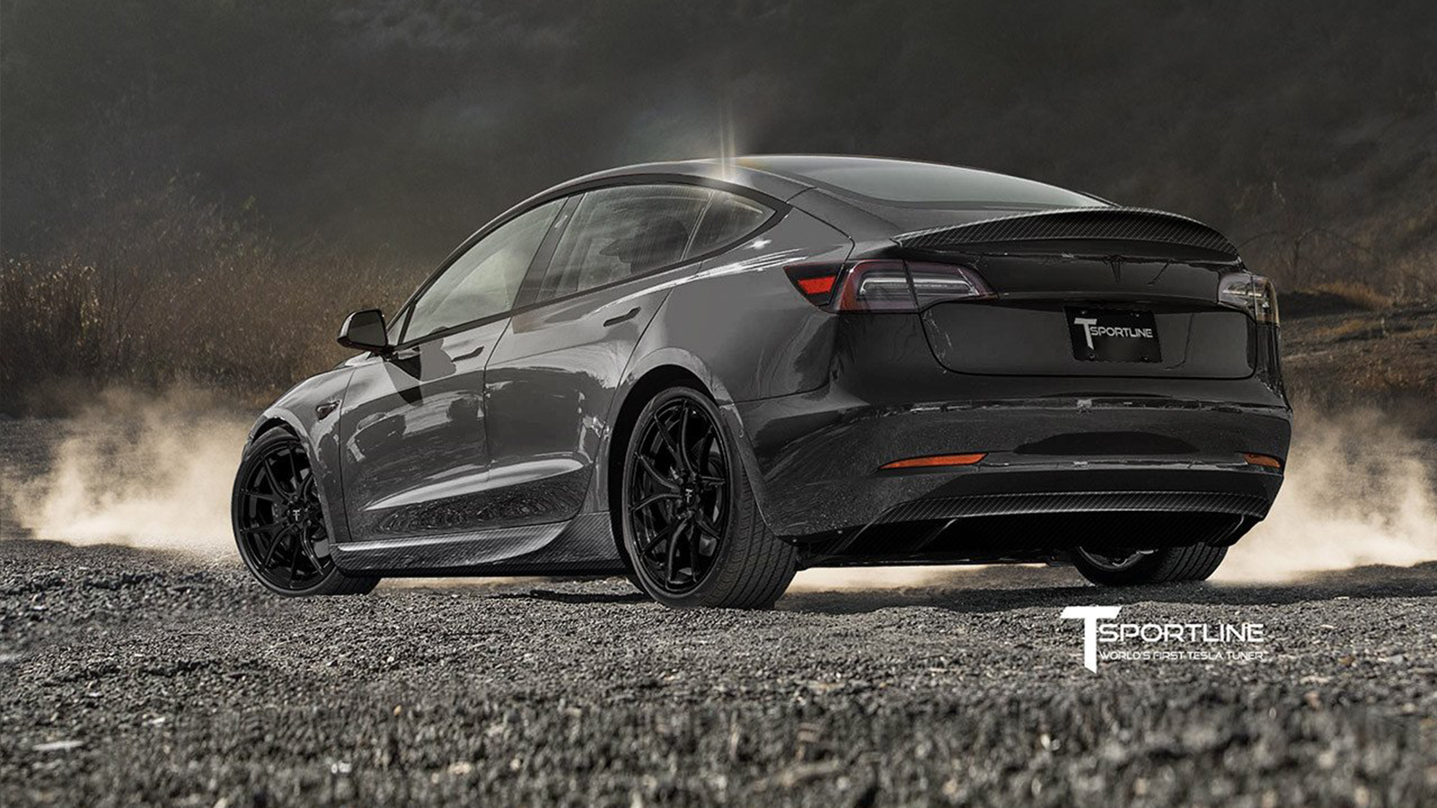 Tesla Model 3 Carbon Fiber Sport Kit by T Sportline
