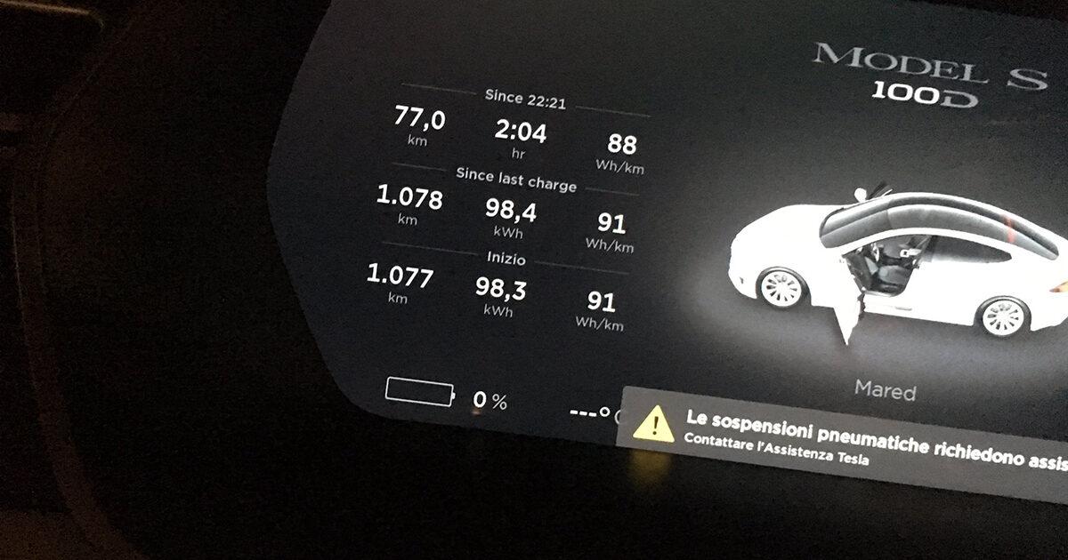 Tesla Model S 100D record