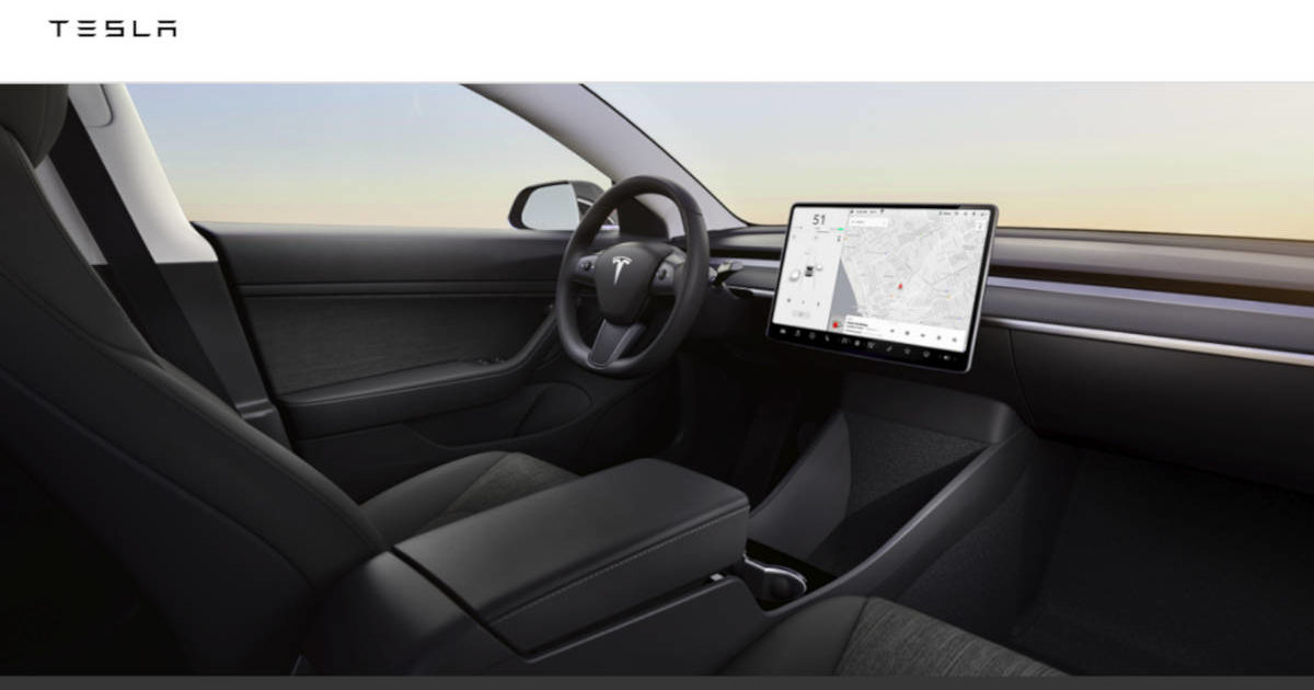 Tesla Model 3 Standard Range Interior